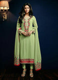 AZ 3917 Green Semi Georgette Party Wear Suit