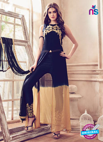 Mannat 4104 Black Party Wear Suit