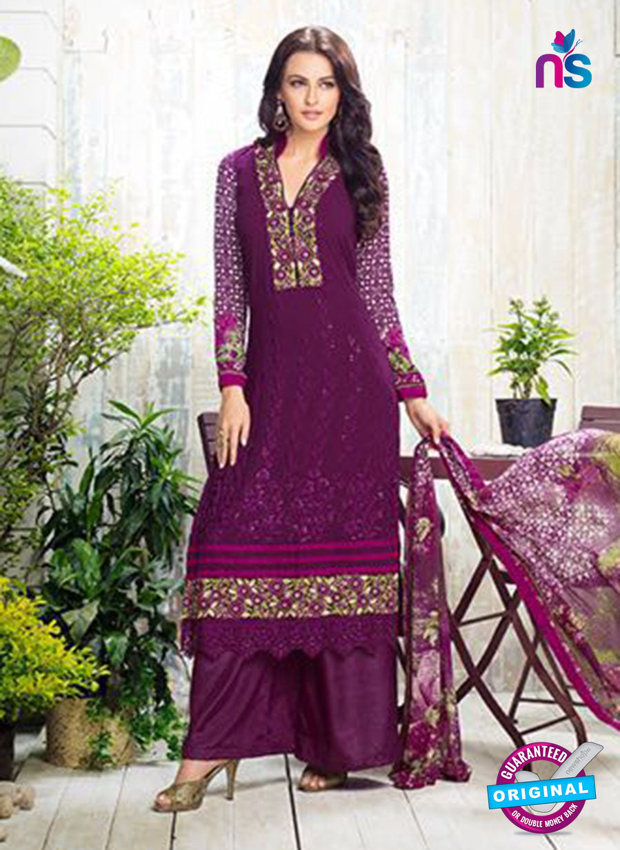 Karma 410 Purple Georgette Party Wear Suit