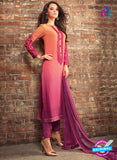 Sahiba 410 Orange and Purple Georgette Plazo Suit