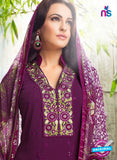 Karma 410 Purple Georgette Party Wear Suit Online