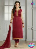 Vinay Fashion 4111 Maroon and Beige Crape Silk Party Wear Suit