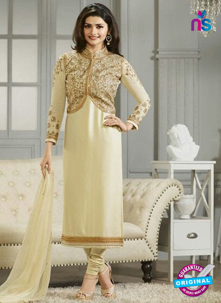 Vinay Fashion 4116 Beige Crape Silk Party Wear Suit