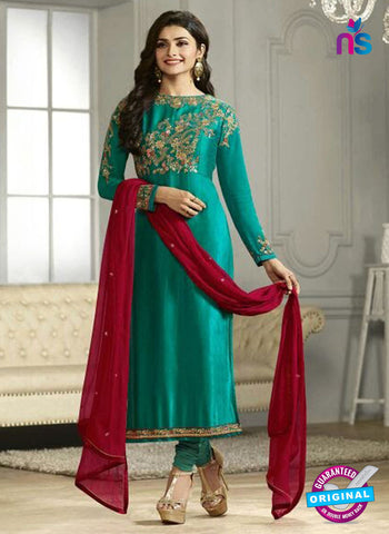 Vinay Fashion 4117 Sea Green Crape Silk Party Wear Suit