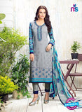 AZ 3546 Grey Georgette Party Wear Suit