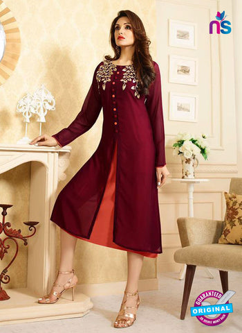 LT 412 Maroon Designer Fancy Exclusive Party Wear Stitched Kurti
