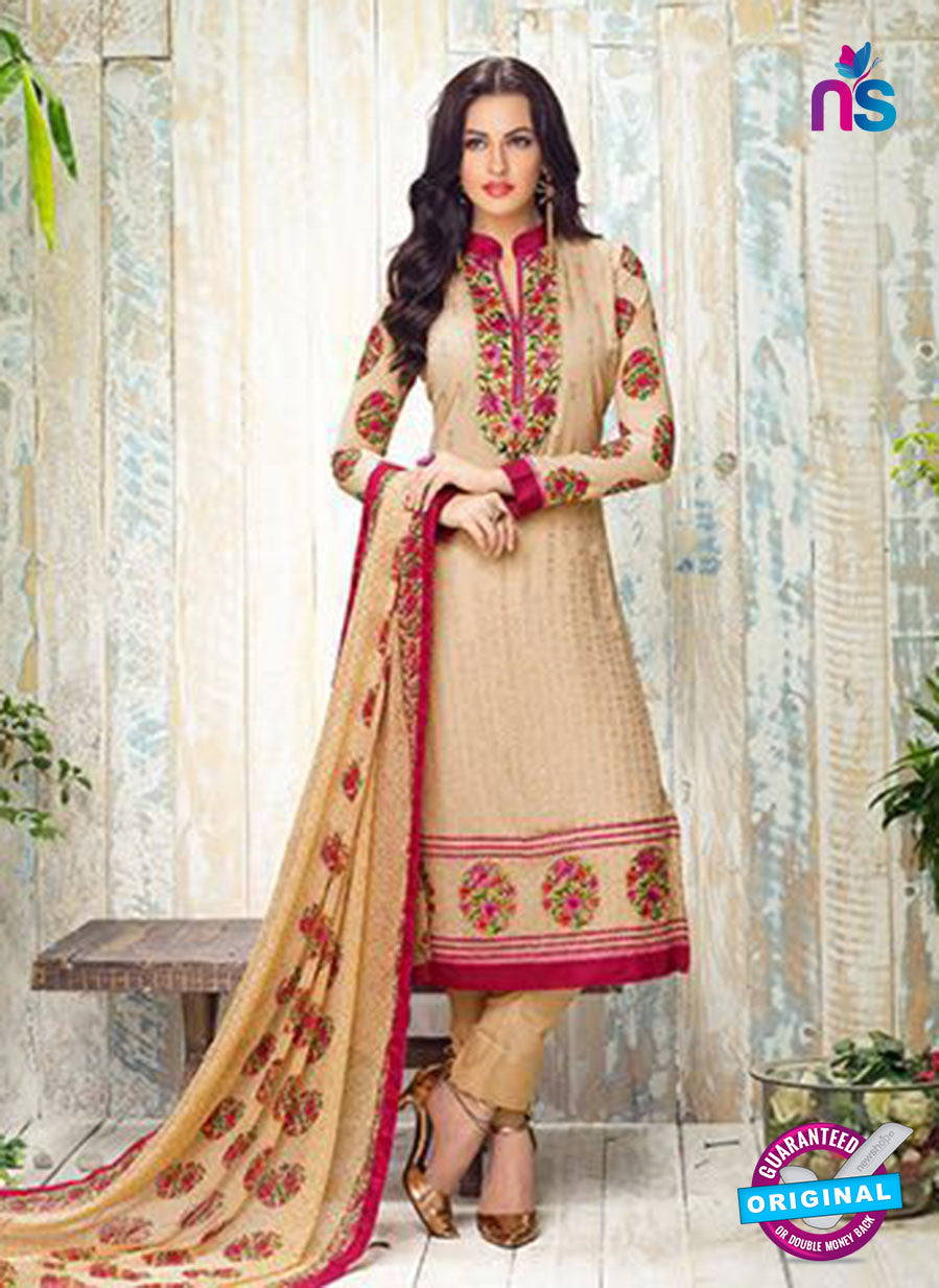 Karma 412 Beige Georgette Party Wear Suit