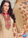 Karma 412 Beige Georgette Party Wear Suit Online