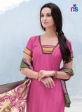 NS11256 DarkPink and ArmyGreen Bhagalpuri Straight Suit