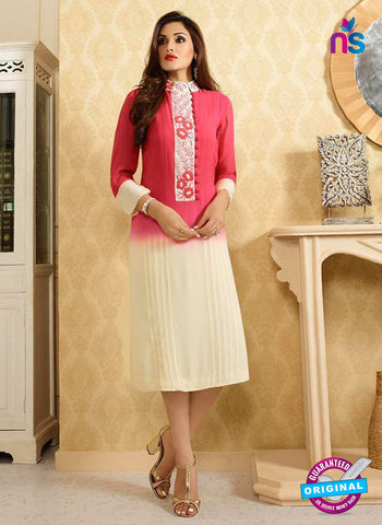 LT 413 Pink and Beige Designer Fancy Exclusive Party Wear Stitched Kurti