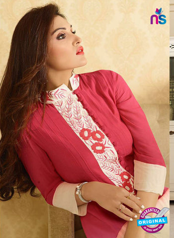 LT 413 Pink and Beige Designer Fancy Exclusive Party Wear Stitched Kurti Online
