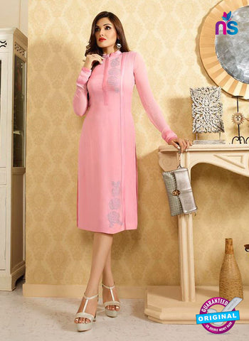LT 414 Pink Designer Fancy Exclusive Party Wear Stitched Kurti