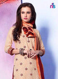 NS11301 LightYellow and Maroon Pure Cotton Daily Wear Patiala Suit