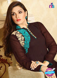 LT 415 Brown and Sea Green Designer Fancy Exclusive Party Wear Stitched Tunic
