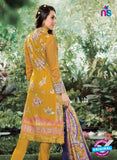 NS10864 Golden and Yellow Lawn Cotton Pakistani Suit