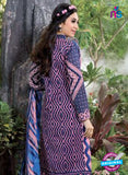 NS10865 Blue and Pink Lawn Cotton Pakistani Suit Online