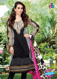NS10866  White and Black Lawn Cotton Pakistani Suit