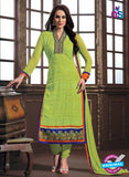 NS12232 Light Green and Blue Straight Suit