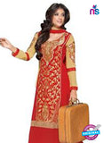 NS12277 Red and Beige Straight Suit Online