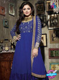NS 12351 Blue and Golden Party Wear Anarkali Suit