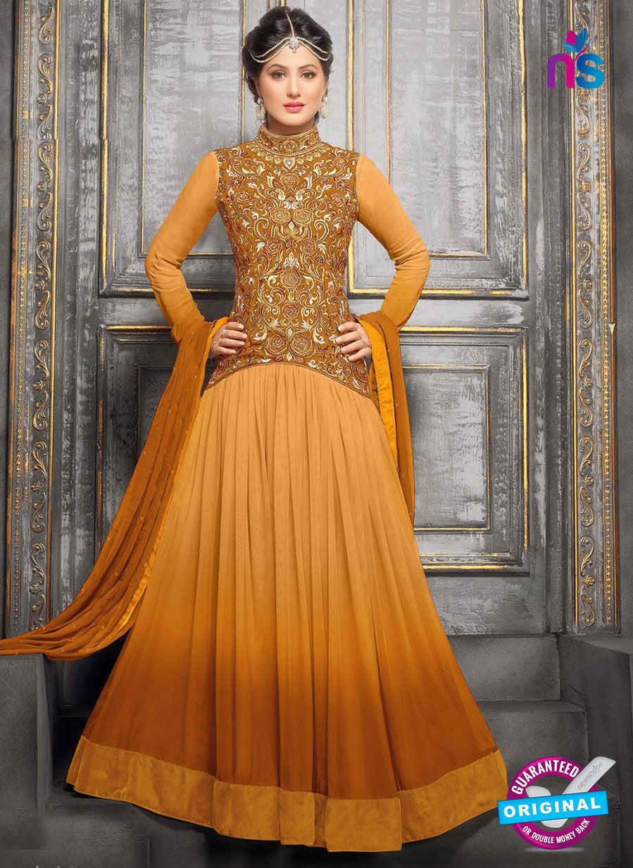 NS10710 J Brown Designer Anarkali Suit