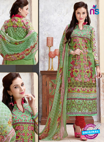 SC 14425 Green Formal Cotton Suit