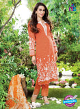 NS10867  White and Red Lawn Cotton Pakistani Suit