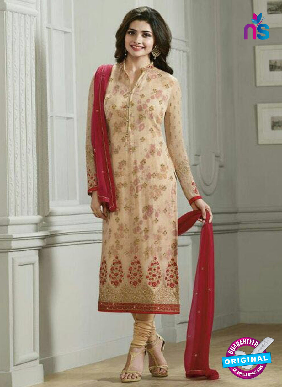 Vinay Fashion 4291 Beige Georgette Embroidery Pakistani Suit