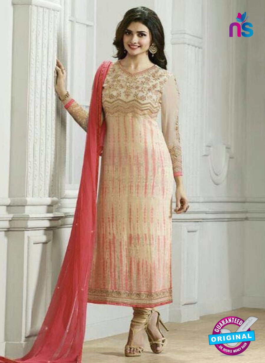 Vinay Fashion 4295 Beige Georgette Embroidery Pakistani Suit