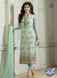 Vinay Fashion 4296 Sea Green Georgette Embroidery Pakistani Suit