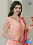 Vinay Fashion 4297 Peach Georgette Embroidery Pakistani Suit