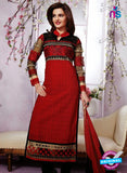 NS12278 Red and Black Straight Suit
