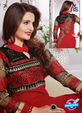 NS12278 Red and Black Straight Suit Online