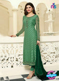 Vinay Fashion 4385 Green Brasso Fancy Designer Party Wear Suit