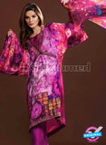 NS10633 Multicolor and Magenta Party Wear Printed Satin Pakistani Suit