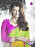 NS11018 Green and Pink Designer Georgette Saree