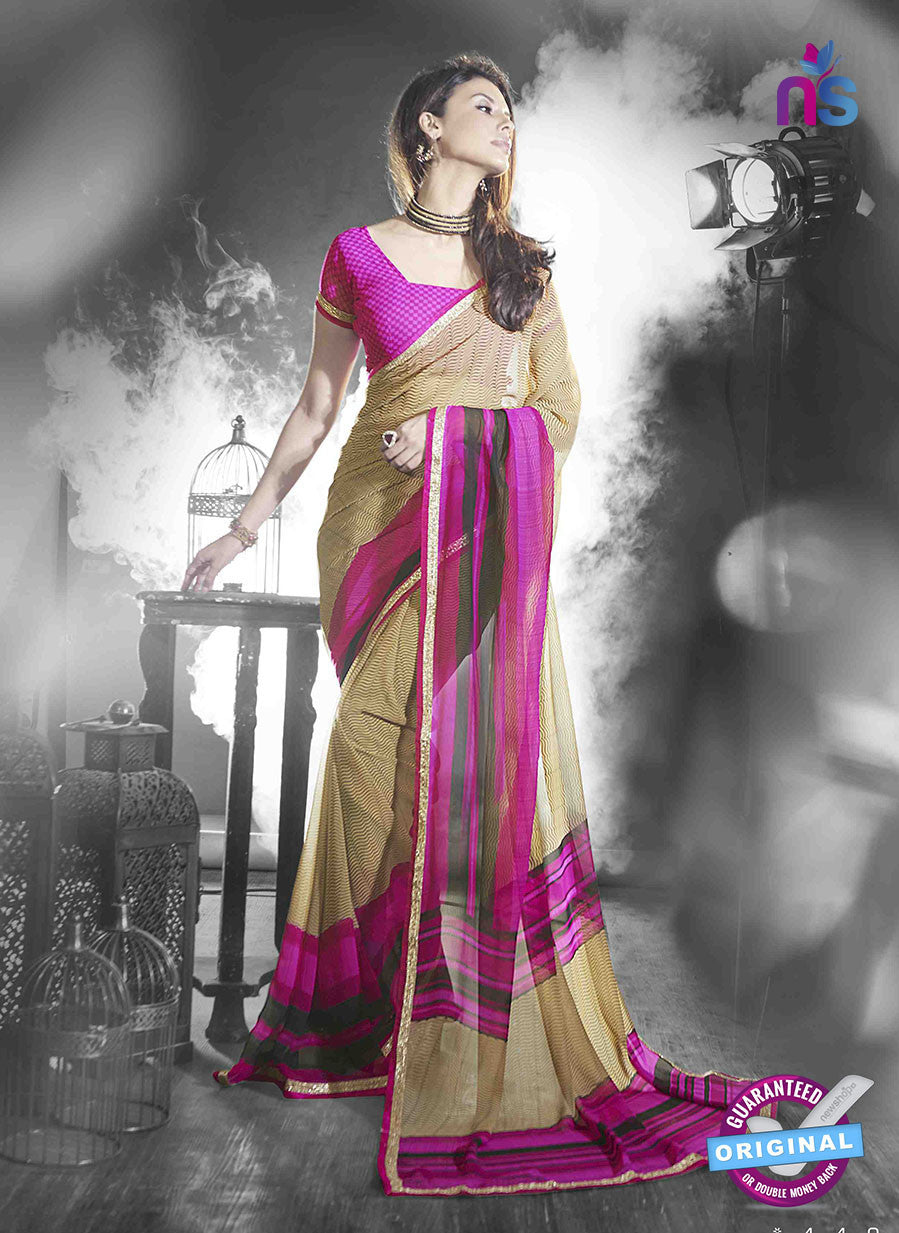 NS11028 Magenta and Brown Designer Georgette Saree