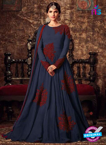 Masha 4405 A Blue Anarkali Suit