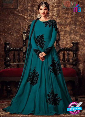 Masha 4405 C Sea Blue Anarkali Suit