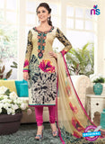Rakhi4406A Beige & Pink Color Glace Cotton Designer Suit