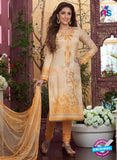 Rakhi4408B -  Yellow Color Glace Cotton Designer Suit