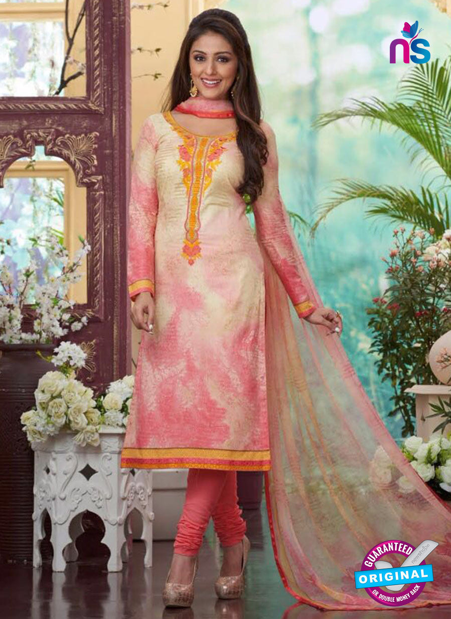 Rakhi4411A - Yellow & Grey Color Glace Cotton Designer Suit
