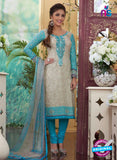 Rakhi4415B - Blue & Grey Color Glace Cotton Designer Suit