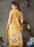 Rakhi-4417A-Yellow Color Cotton Designer Suit
