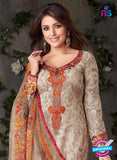 Rakhi-4423A-Grey and Red Color Cotton Designer Suit