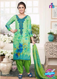 Rakhi 4432B Green and Blue Lawn Designer Suit