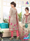 Rakhi 4433A Grey and Peach Lawn Designer Suit
