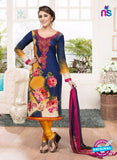 Rakhi 4435B Blue and Yellow Lawn Designer Suit