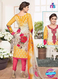 Rakhi 4436A Yellow and Pink Lawn Designer Suit