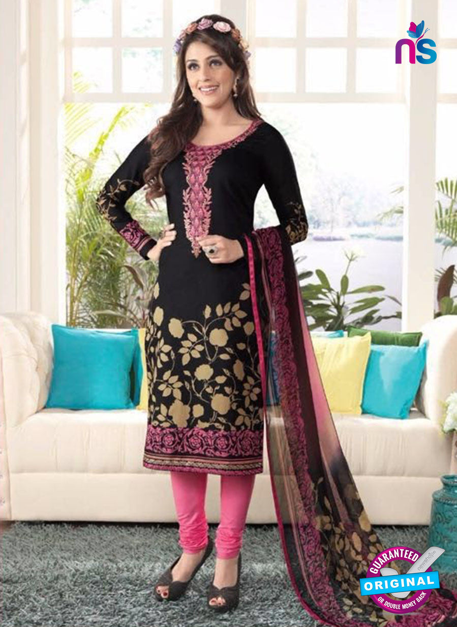 Rakhi 4437A Black and Pink Lawn Designer Suit